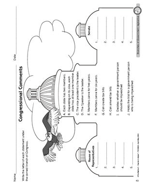 Printables Legislative Branch Worksheet worksheet legislative branch of government has more worksheets too below grade level but good