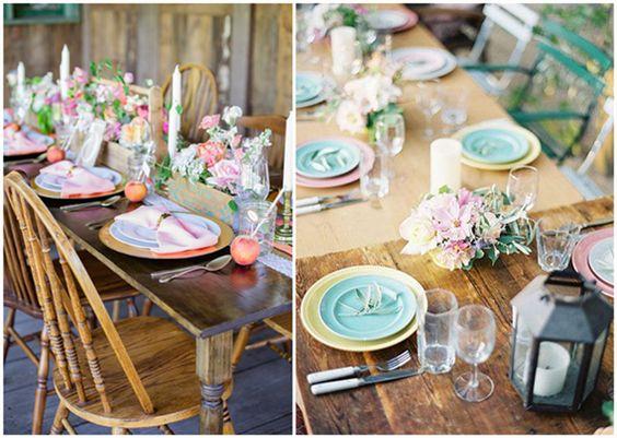 Rustikale Hochzeit Tischdekoration Ideen 2014 2015 Vintage - gartenparty deko rustikal