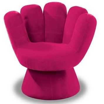 lumisource plush mitt chair hot pink cool room decor for teens