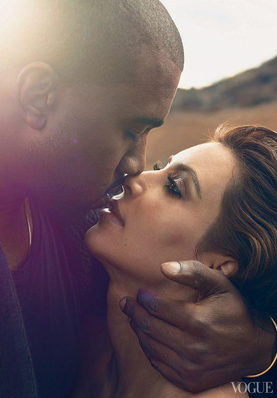 Kim Kardashian and Kanye by Annie Leibovitz for Vogue