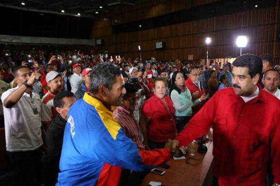 Nicolás Maduro con la clase trabajadora