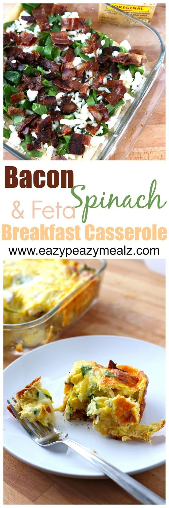 Spinach and feta, Breakfast casserole and Feta on Pinterest