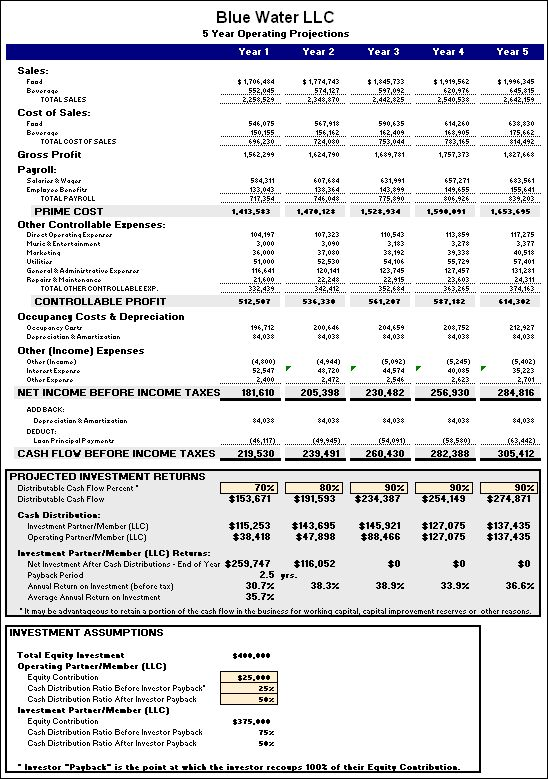 financial plan for small business
