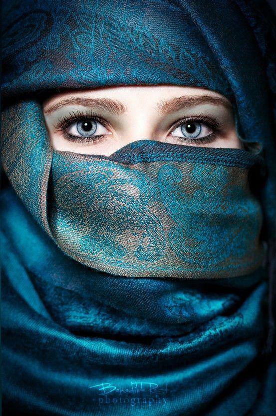 Blue eyes: