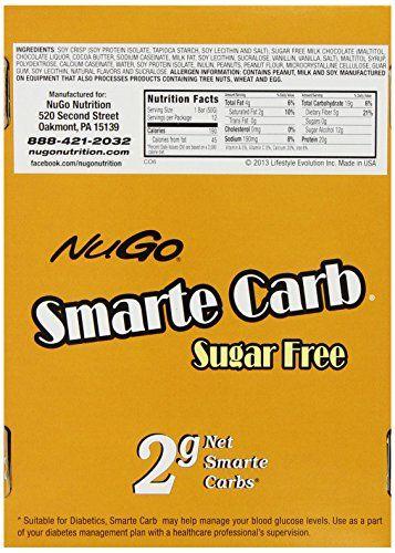 NuGo Smarte Carb Bar  Nessa - sugar free, 2g net carbs