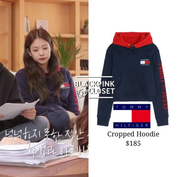 BLACKPINK HOUSE :: Tommy Hilfiger Capsule Collection Cropped Hoodie