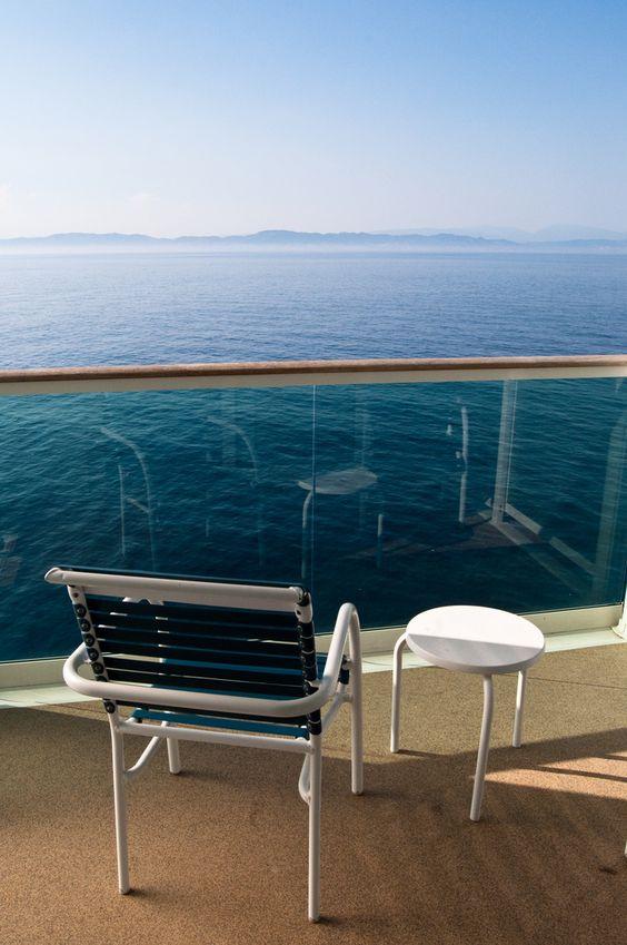 Balcony views on Liberty of the Seas.