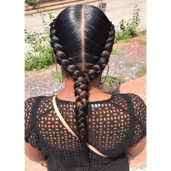 Hairstylist Jazmine Davidson giving hair goals with this cute French Braid