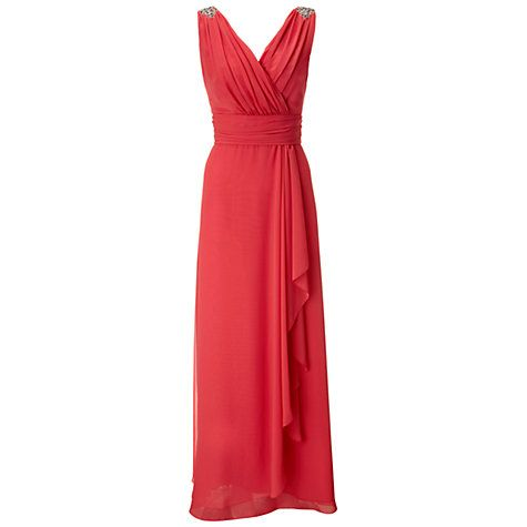Ariella Felicity Chiffon Maxi Dress, Coral at johnlewis.com