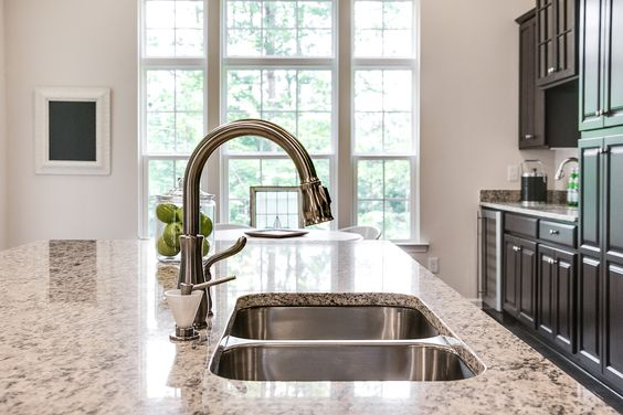 #kitchen #faucet #granite #countertops