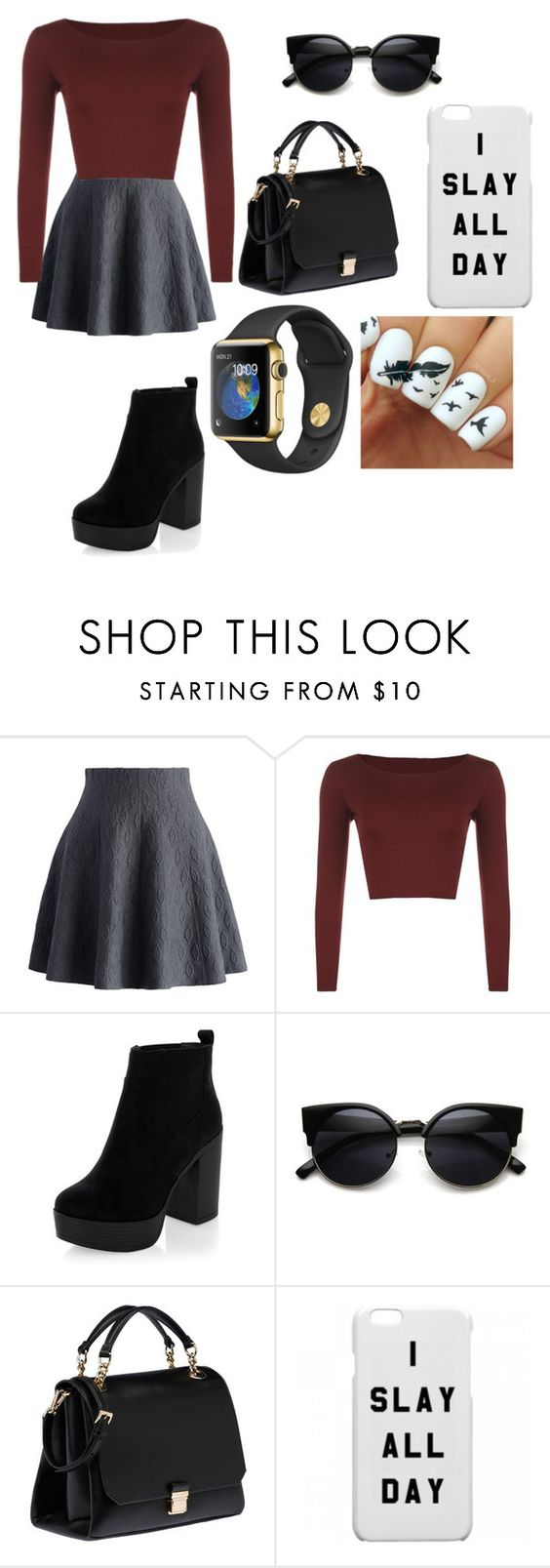 """""""Untitled #438"""" by destgreen ❤ liked on Polyvore featuring Chicwish, WearAll, New Look and Miu Miu"""
