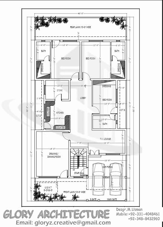 40 X 80 House Plans Inspirational 40x80 House Plan G 15 Islamabad House Map And Drawings In 2020 House Map My House Plans Model House Plan