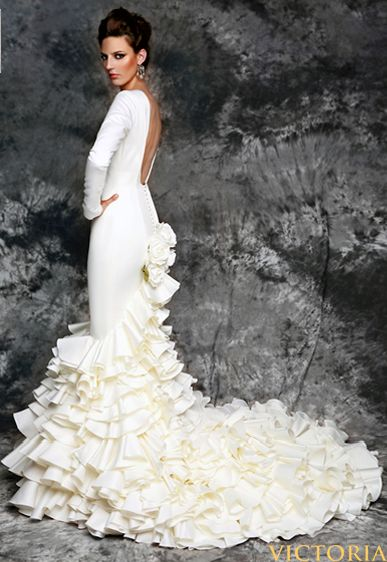 Morgan! flamenco wedding dress. I know it seems odd...I probably wouldn't want the flowers on the back but this is legit flamenco.