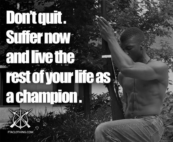 Rifle Color Guard Quotes: Suffer Now. But Don't Quit.