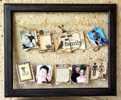 Family Frame    Guest Design work for Scrap Africa.  Inspiration from Scrapbooks Etc.