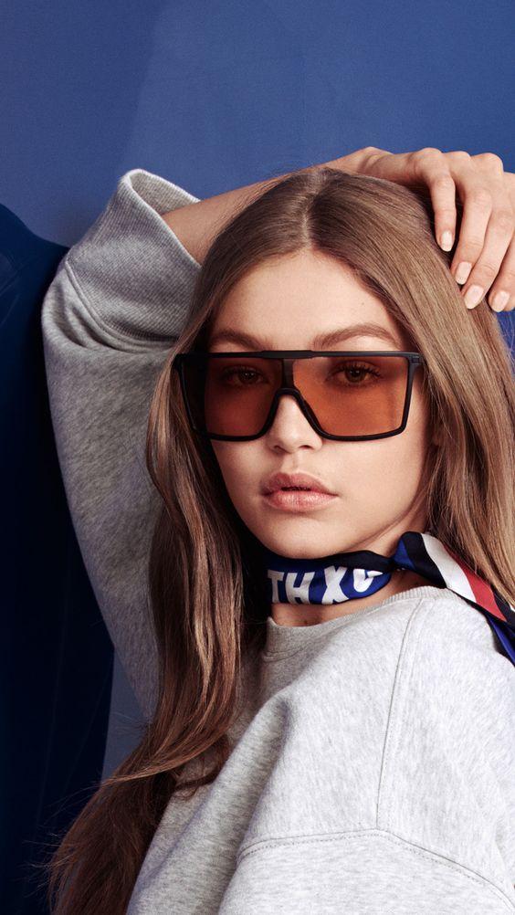 Gigi Hadid, Tommy Hilfiger, sunglasses, 2018, 720x1280 wallpaper