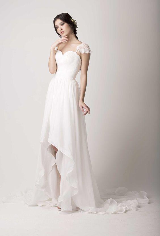Love Found True high-low wedding dress