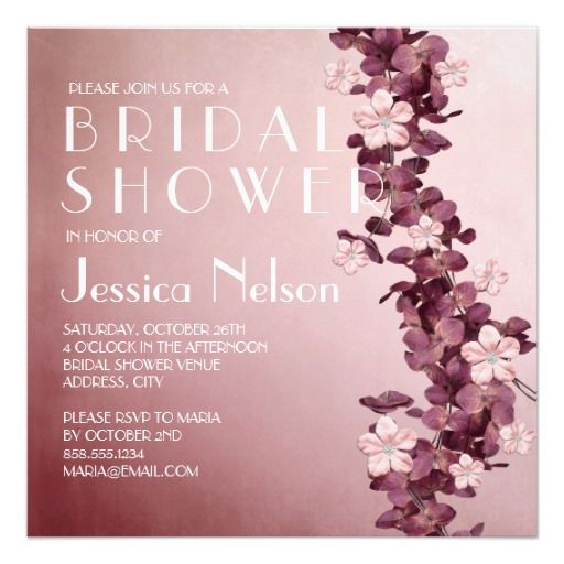 Vintage Floral Garden Bridal Shower Personalized Announcements