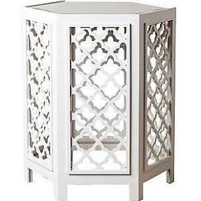 Abbyson Living Garland End Table; White