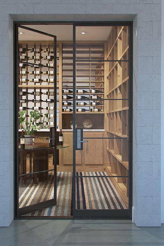Home Glass Door Wine Wine Cellar Window Basement Property