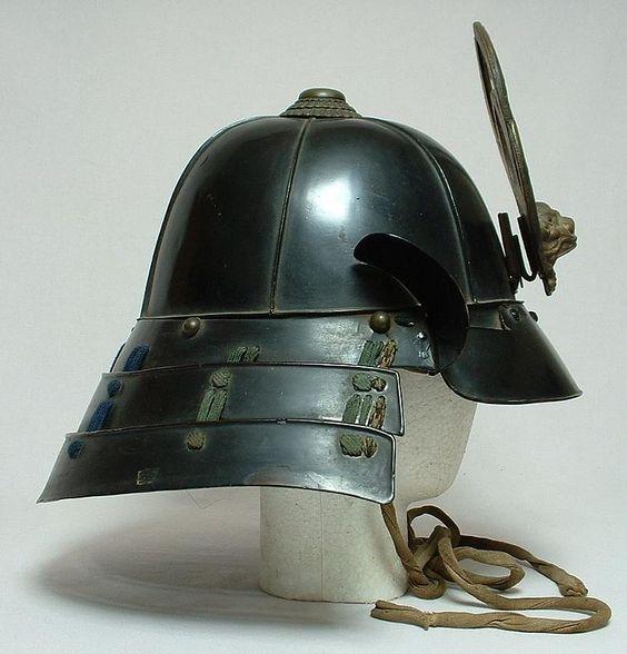 Antique Japanese Samurai Helmet Suji Kabuto, Mid-Edo ...