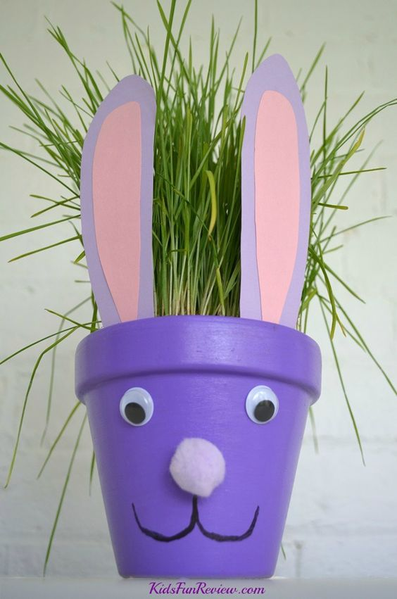 Easter Bunny Flower Pot Craft Idea Crafty 2 The Core Diy