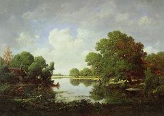 Landscapes Art - Early Summer Afternoon by Pierre Etienne Theodore Rousseau