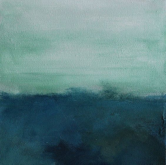 Seascape 79  Original abstract seascape painting by PrismaticArt, $60.00
