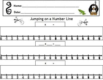 math worksheet : this worksheet aligns with quot;darius and his penguin posse quot;  quot;jumps  : Multiplication On Number Line Worksheets