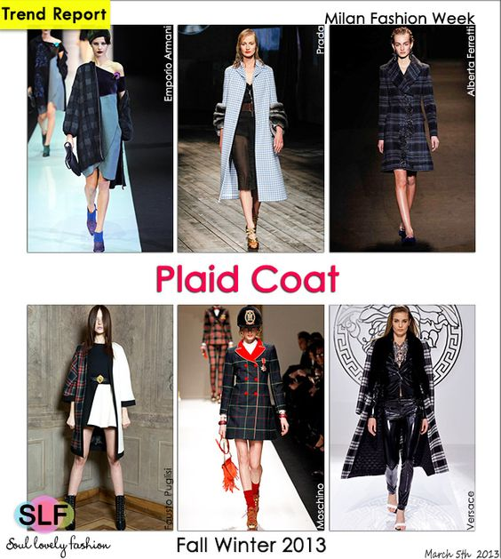 Plaid Pattern #Print #Coat #Trend for Fall Winter 2013 #mfw #trends  March 5th, 20131:29 P.M. GMT