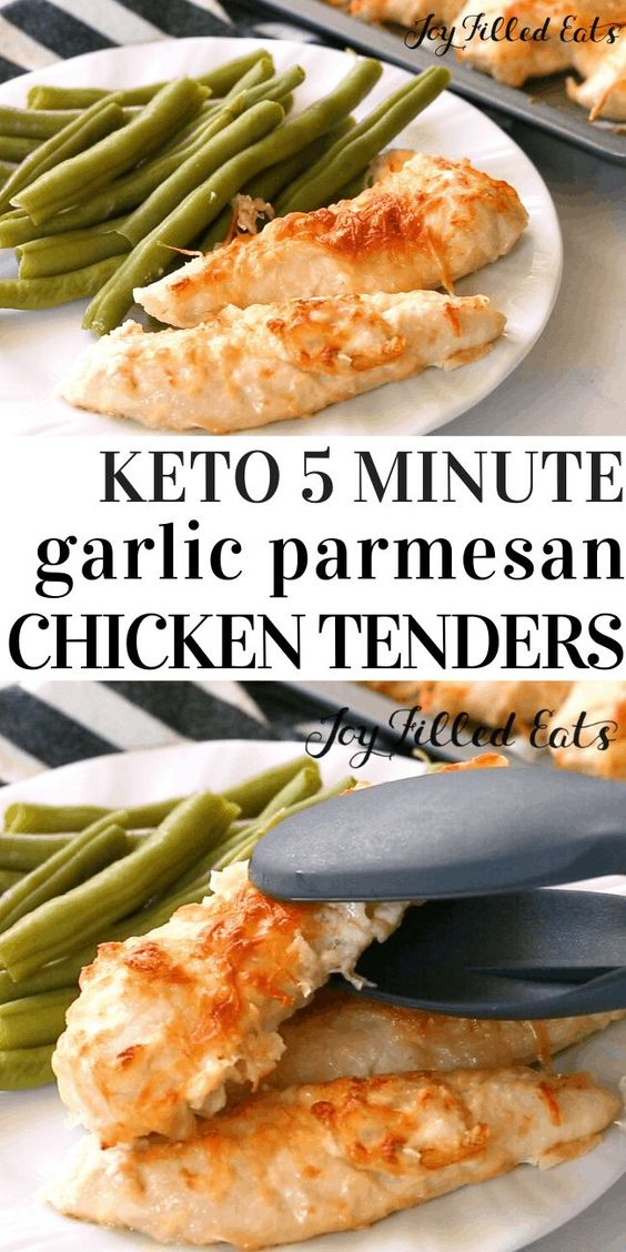 Keto Garlic Parmesan Chicken Tenders - Low Carb, THM S