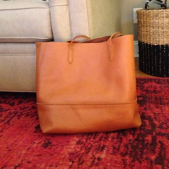 J. Crew Leather Tote Gently used. J. Crew Bags Totes