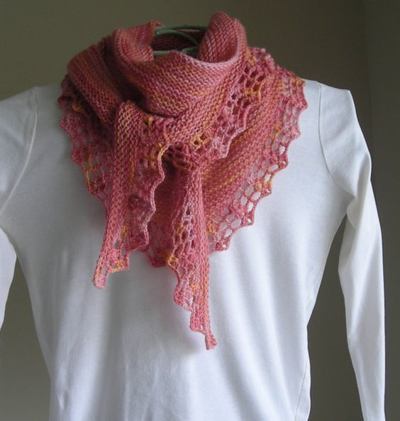 Knitting Patterns For Scarves Using Sock Yarn : Knitting patterns, Knit scarves and Sock yarn on Pinterest