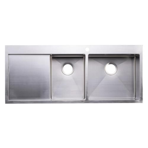 BAI-1234-48-Handmade-Stainless-Steel-Kitchen-Sink-Double-Bowl-With ...