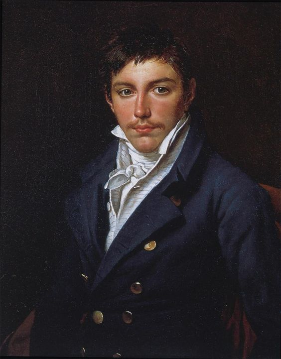 Jacques-Louis David, Portrait of François-Antoine Rasse de Gavre, 1816. The sitter's father may have commissioned this portrait from David out of sympathy for the exiled painter. The boy was sixteen years old when the portrait was painted...: