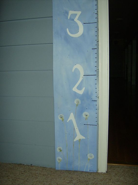 Children's Fabric Growth Chart! From 1-5 1/2 '  Find me on Etsy.com