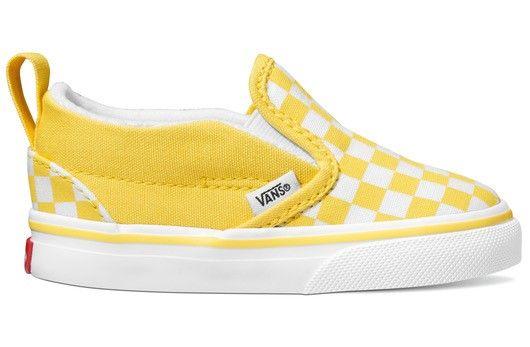 Checkerboard Slip On Aspen GoldTrue White | Vans shoes kids