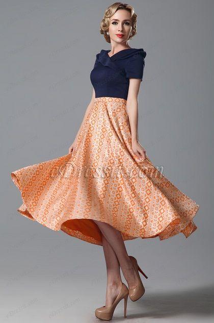 Tea Length Cocktail Dresses With Sleeves - Ocodea.com