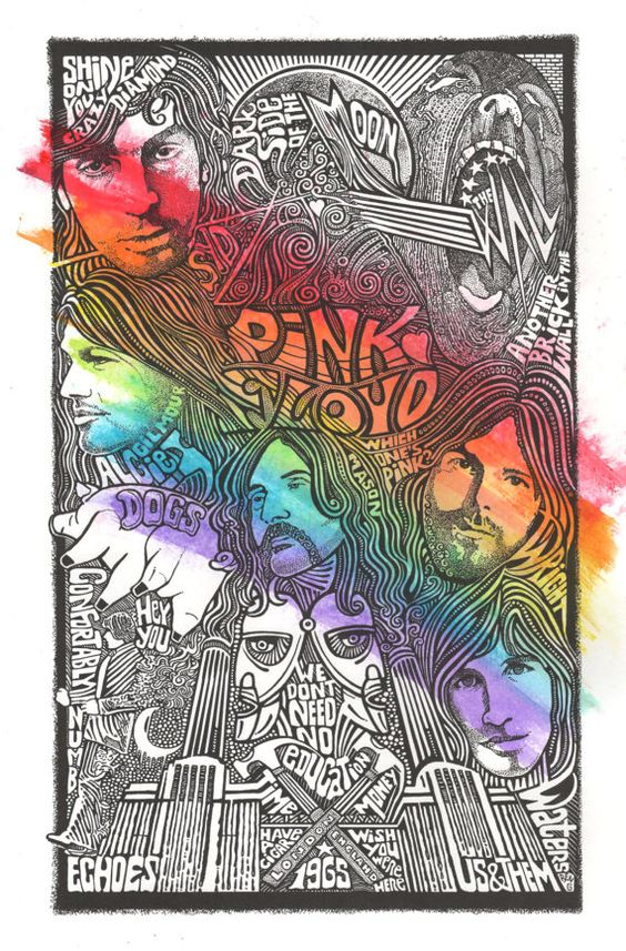 Pink  Floyd  Dark side of the Moon Print by by Posterography