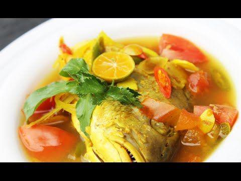 Resep Sup Ikan Kakap Asam Pedas Sedap Youtube Resep Ikan Resep Masakan Resep