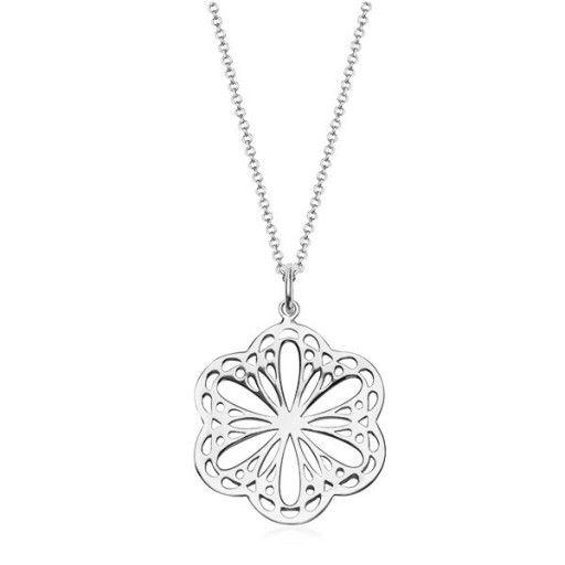 Naszyjnik Srebro Dlugi 925 80 Cm Koniczyna Kwiat 6931388193 Oficjalne Archiwum Allegro Snowflake Necklace Silver Necklace