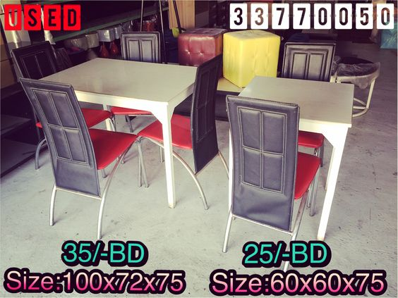 For Sale 1 Dining Table For 4 Person Size 100x72x75 Wood With 4 Leather Chair Excellent Condition Price 35 Bd 2 Dining Chairs Home Decor Furniture