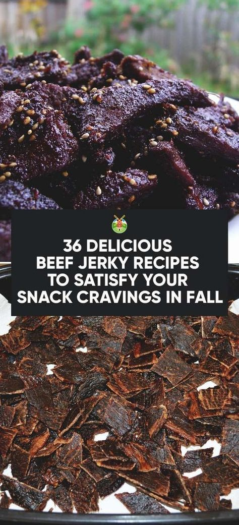 36 Delicious Beef Jerky Recipes To Satisfy Your Snack Cravings Beef Jerky Recipes Jerky Recipes Jerkey Recipes