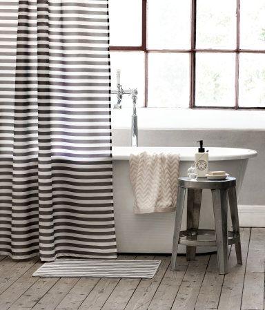 Black White Striped Shower Curtain 20 H M Home Cool House Ideas