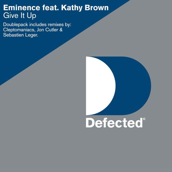 Eminence, Kathy Brown – Give It Up (single cover art)