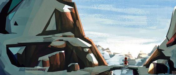 Early concepts : Neïla in the mountains by Eline Zhang  NEILA  A shortfilm created by french students  https://www.facebook.com/pages/NE%C3%8FLA/1066725760011485  http://neilathefilm.tumblr.com/