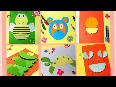 أشكال حيوانات من الورق أنشطة من الورق الملون المقوى Youtube In 2021 Lolo
