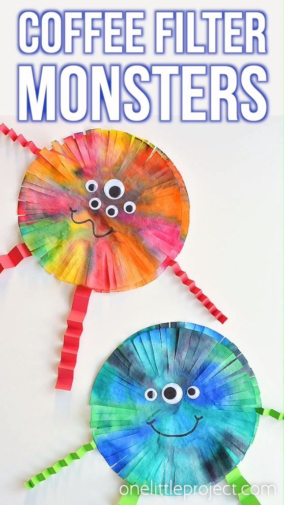 Halloween Photo Filter 2020 How to Make Coffee Filter Monsters in 2020 | Halloween crafts for