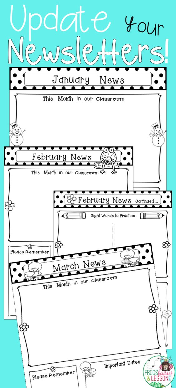 editable monthly newsletter templates newsletter templates boxes and the o 39 jays. Black Bedroom Furniture Sets. Home Design Ideas