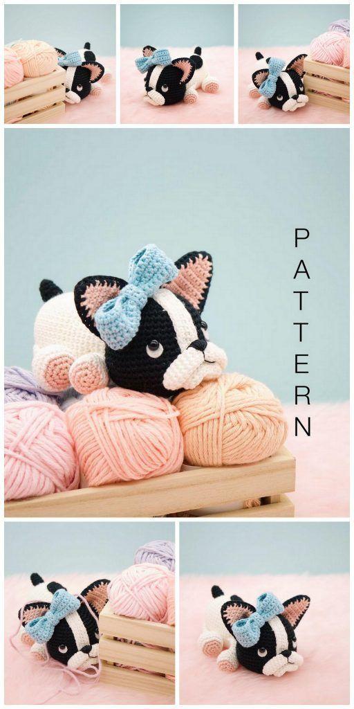 Amigurumi Little Dog Crochet Free Patterns - Crochet & Knitting | 1024x512